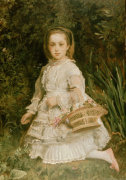 Portrait Of Gracia, Daughter Of Evans Lees by Sir John Everett Millais