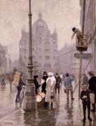 The Flower Seller, Amager Torv, Copenhagen, 1918 by Paul Gustav Fischer