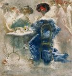 Due Donne Elegante (Two Elegant Ladies) by Pompeo Mariani