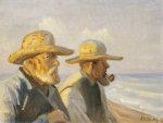Two Skagen Fishermen, 1907 by Michael Peter Ancher