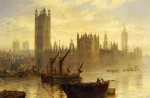 Westminster From The Thames by Claude Stanfield Moore
