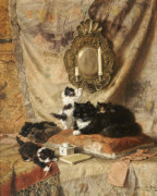 Work Rest And Play, 1896 by Henriette Ronner-Knip