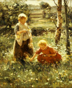 Children In A Field, 1911 by Evert Pieters