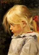 Portrait Of Ingeborg Treschow, Aged Three by Frants Henningsen