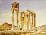 The Temple Of Olympian Zeus, Athens, 1849 by A. Lavezzari