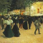 La Fete Foraine, Place Pigalle by Louis Abel-Truchet