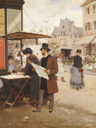 Parisian Street Scene by Francisco Miralles Y Galup