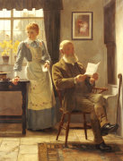 The Letter, 1898 by James Hayllar