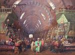 A Bazaar In Constantinople, 1873 by Jean Brindesi