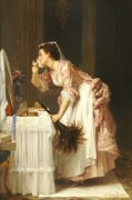 The Chamber Maid, 1868 by Joseph Caraud