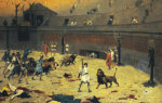 The Reentry Of the Lions Into The Arena by Jean-Leon Gerome
