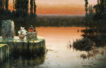 Flooded Ruins At Sunset by Enrique Serra