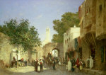 An Arab Street Scene, 1872 by Honore Boze
