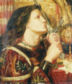 Joan Of Arc Kissing The Sword Of Deliverance, 1863 by Dante Gabriel Rossetti