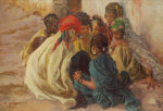 Arab Children Playing by Alphonse Etienne Dinet