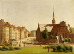 The Palace Square And Holmens Kirke, Copenhagen, 1866 by Constantin Hansen