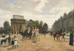 The Life Guards Passing Hyde Park Corner, London, C.1886 by Felippo Baratti