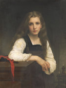 The Fair Spinner by Adolphe William Bouguereau