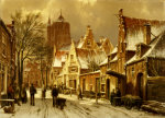 A Winter Street Scene by Willem Koekkoek
