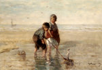 Children Playing By The Seaside by Jozef Israels