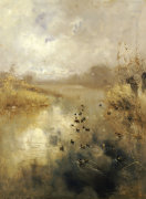 Ducks On A Lake, 1896 by Pompeo Mariani