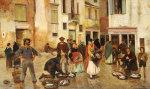 Campiello Delle Mosche, Venice, 1880 by Franz Leo Ruben