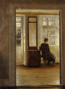 A Lady In An Interior by Carl Holsoe