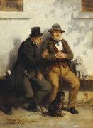 Two Men Against A Wall, 1872 by Hugo Kauffmann