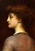 Portrait Of A Young Girl by Lord Frederic Leighton