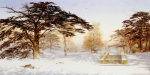 Untrodden Snow Within Three Miles Of Charing Cross, Holland Park, 1874 by Andrew Mccallum