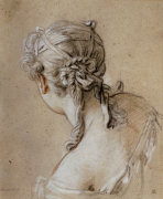 Head Of A Woman Seen From Behind, C. 1740 by Francois Boucher