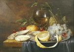 A Roemer, A Peeled Half Lemon On A Pewter Plate by Joris Van Son