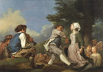 The Village Dance, 1774 by Jean-Hyghes Taraval