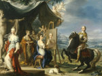 Equestrian Portrait Of A Nobleman, Small Full Length, Wearing Armour by Ignaz Stern