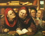 Suppliant Peasants In The Office Of Two Tax Collectors by Quentin Massys
