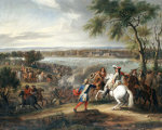 King Louis XIV Of France Crossing The Rhine On 12 June 1672 by Adam Frans van der Meulen