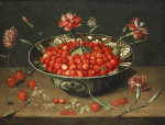 Strawberries In A Bowl by Jacob Van Hulsdonck