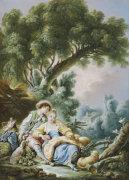 The Rest. Pensent-Ils A Ce Mouton by Francois Boucher