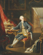 Portrait Of Etienne-Francois De Choiseul (1719-1785) by Michel Romagnesi