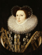 Portrait Of Elizabeth Stafford, Lady Drury by Sir William Segar