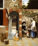 Courtyard of a House in Delft 1658