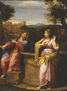 Christ And The Woman Of Samaria At The Well by Francesco Albani