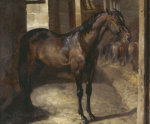 Anglo-Arabian Stallion In The Imperial Stables At Versailles by Jean-Louis-André-Théodore Géricault