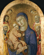 The Madonna And Child With Saints by Sano di Pietro