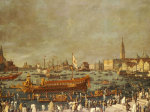 The Doge In The Bucintoro Departing For The Porto Di Lido On Ascension Day by Christie's Images