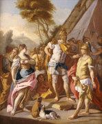 Sisygambis, The Wife Of Darius, Mistaking Haephestion For Alexander The Great by Francesco de Mura