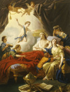 Dauphin The Royal Highness Dying Surrounded By His Family And Duc The Royal Highness Of Bourgogne by Louis Jean Francois Lagrenee