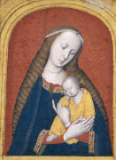 The Virgin And Child Tempera And Gold On Linen, C.1500 by Christie's Images