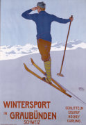 Wintersport in Graubunden 1906