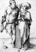 A Cook And His Wife, Circa 1496 by Albrecht Dürer